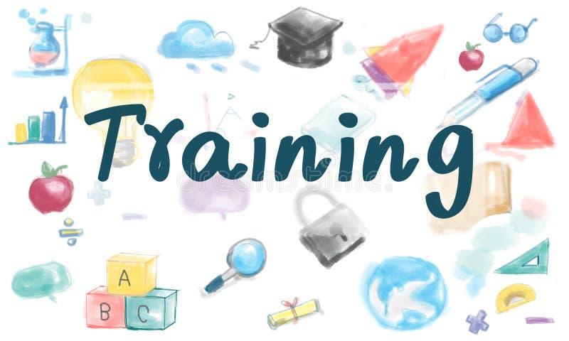 Tutoría de las habilidades del entrenamiento que aprende concepto stock de ilustración