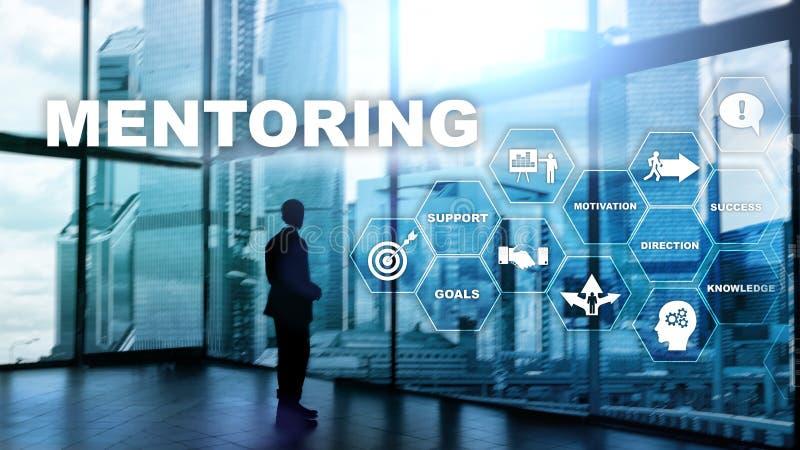 Tutoría del negocio El entrenar personal Concepto personal de entrenamiento del desarrollo ilustración del vector