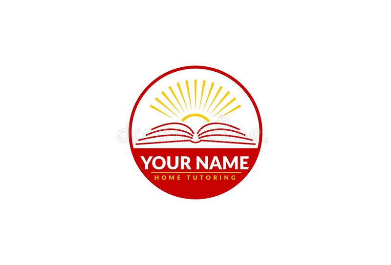 Tutoria Logo Design da casa ilustração stock