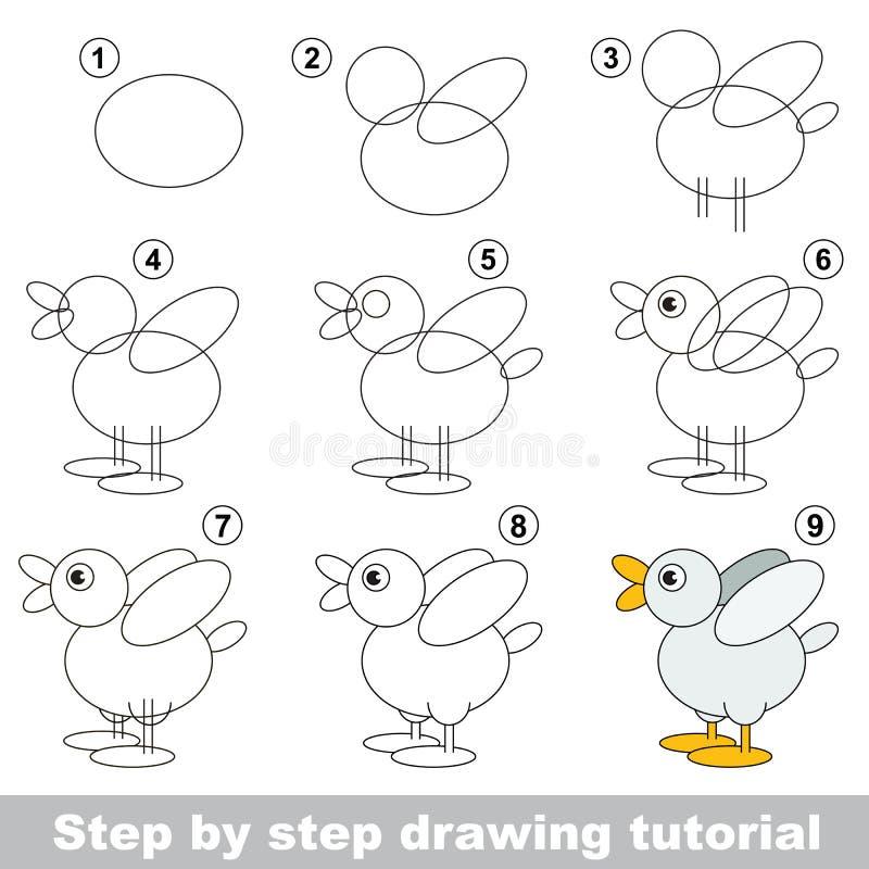 Tutorial del dibujo stock de ilustración