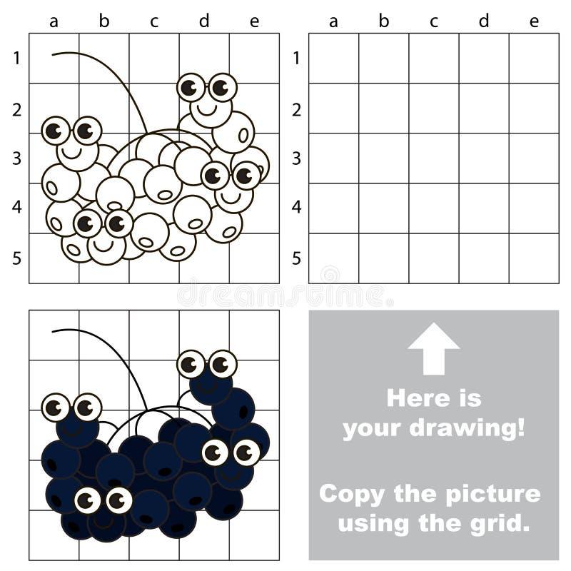 Tutorial del dibujo Juego para el Chokeberry stock de ilustración