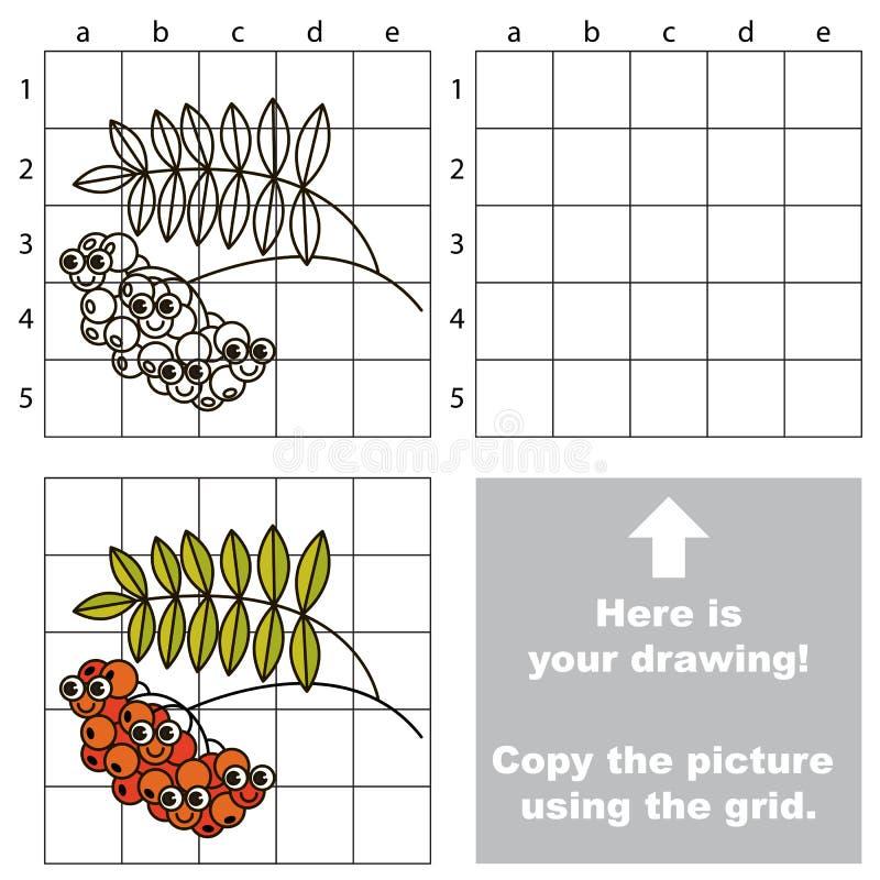 Tutorial del dibujo Juego para la baya de la ceniza ilustración del vector