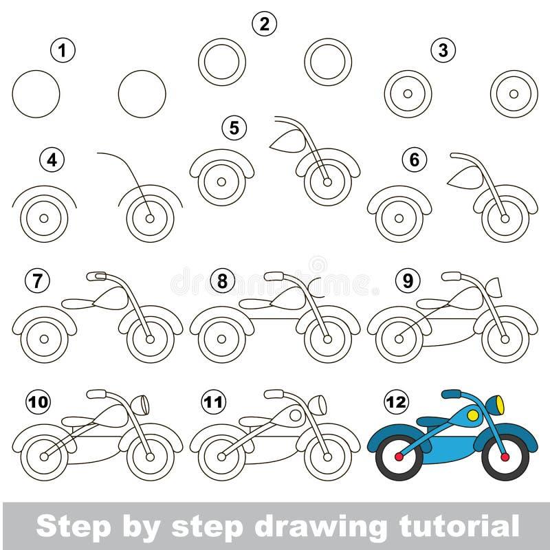Tutorial del dibujo Juego para la bici libre illustration