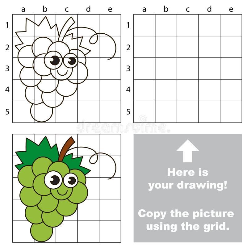 Tutorial del dibujo Juego para las uvas blancas libre illustration