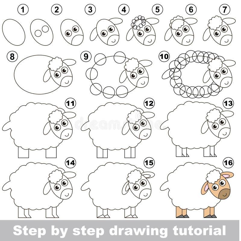 Tutorial del niño del dibujo ilustración del vector