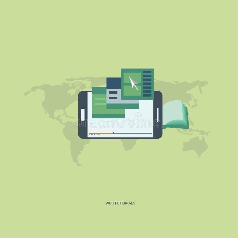 Tutoriales del web ilustración del vector