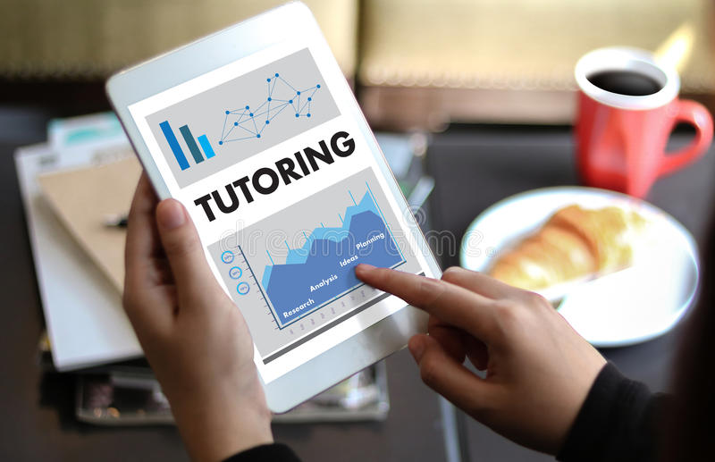 TUTORING and his online education , Learning Education Teacher , royalty free stock photo