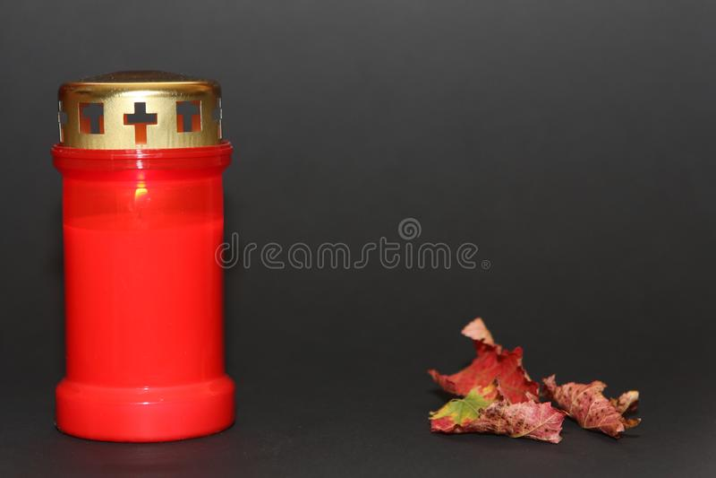 Tutta la candela e foglie di giorno di san fotografie stock