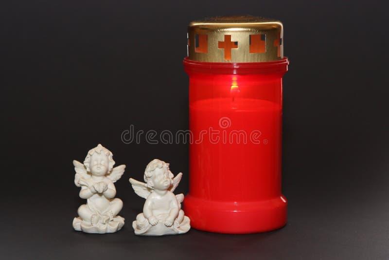 Tutta la candela ed angeli di giorno di san fotografie stock