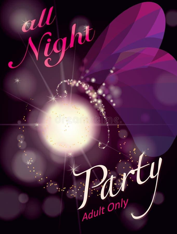 Tutta la notte partito illustrazione vettoriale
