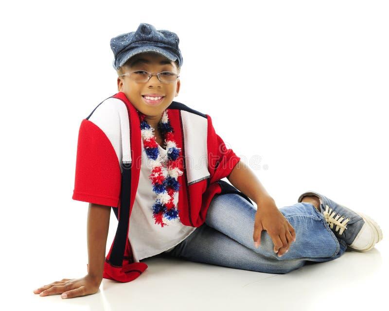 Tutta la ragazza elementare americana fotografie stock