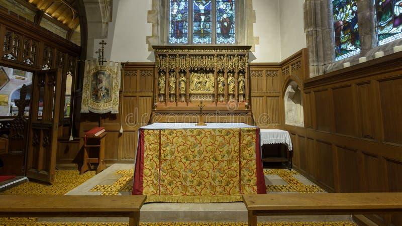 Tutta la signora Chapel Altar della chiesa dei san fotografia stock