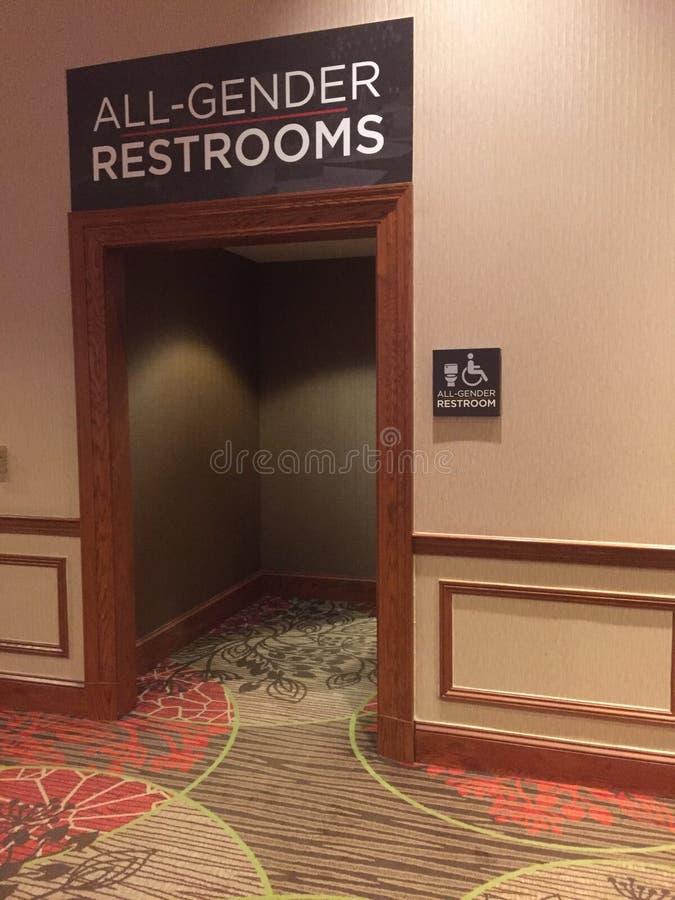 Tutta la toilette di genere fotografie stock libere da diritti