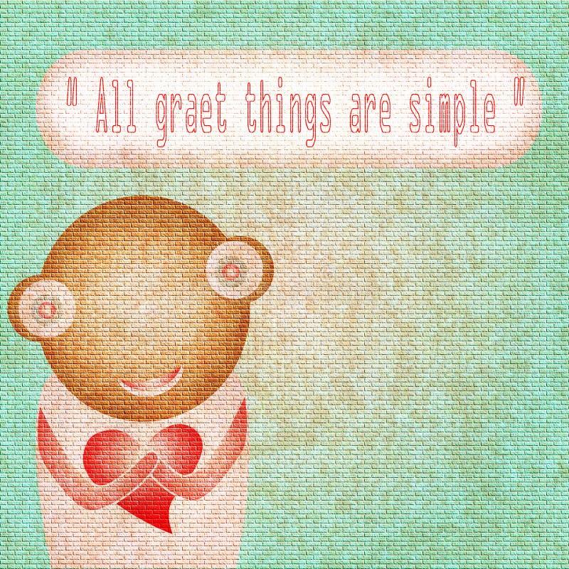 Tutte le grandi cose sono semplici! illustrazione del fumetto illustrazione di stock