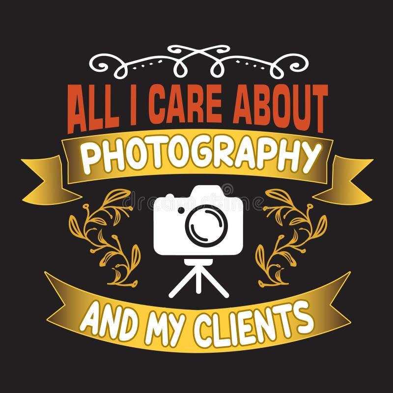 Tutti che mi preoccupi per fotografia ed i miei clienti illustrazione di stock
