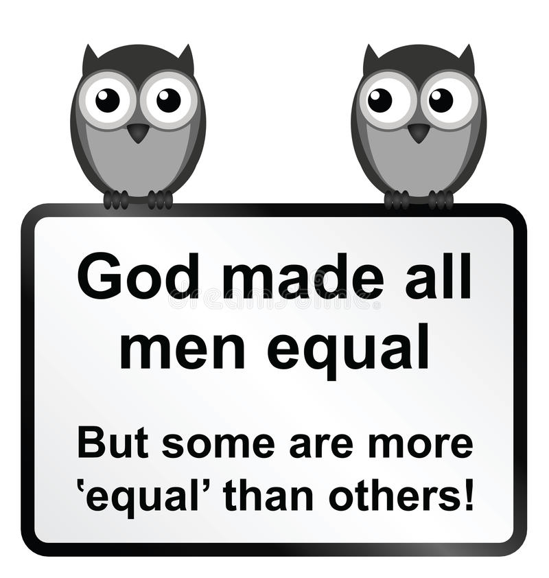 Tutti gli uomini uguali illustrazione di stock