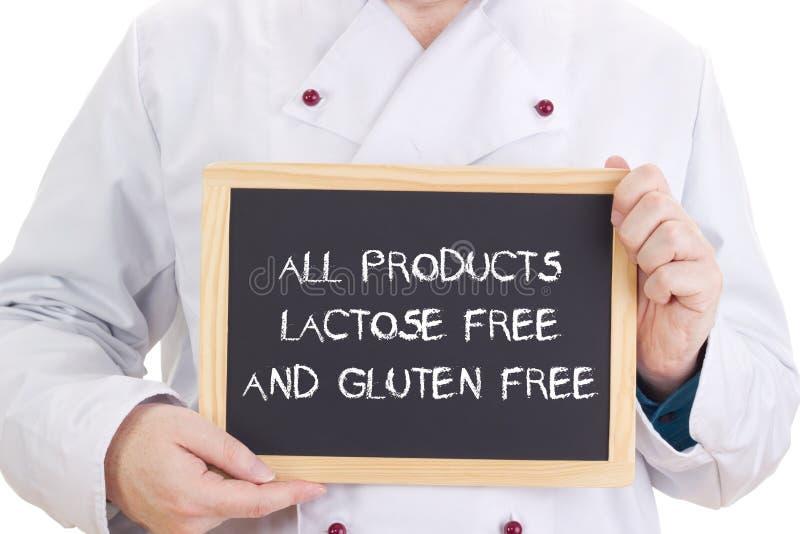 Tutti i prodotti senza lattosio ed il glutine liberano fotografie stock