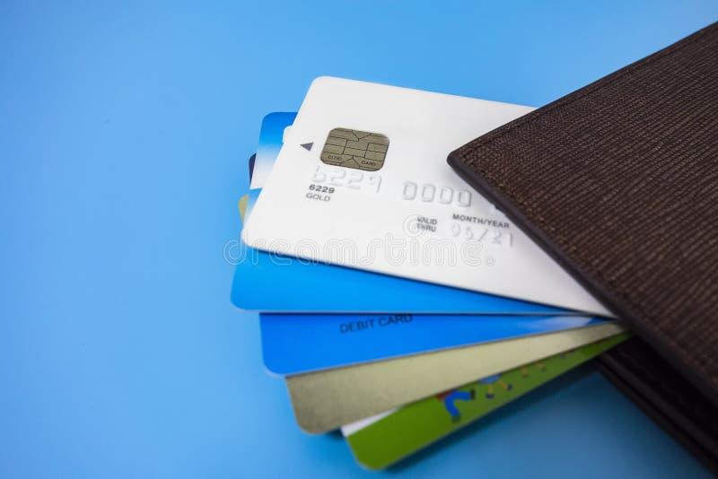 Tutti i tipi di carte assegni fotografia stock