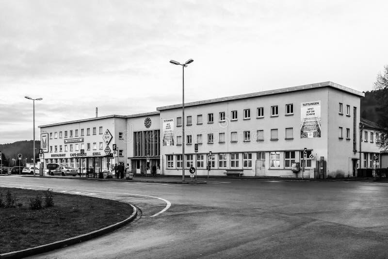 Tuttlingen-Bahnstation lizenzfreie stockfotografie