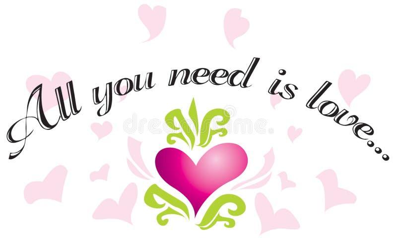 Tutto che abbiate bisogno di è amore? royalty illustrazione gratis