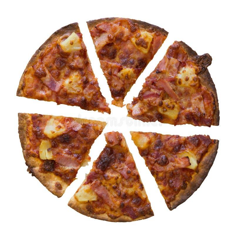 Tutto di pizza isolato sopra fondo bianco fotografie stock libere da diritti