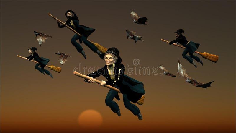 Tutto il befogs del mondo in volo illustrazione di stock