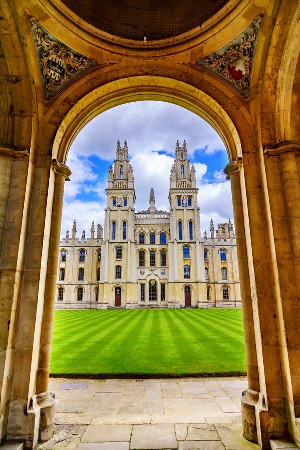 Tutto l'istituto universitario di anima, università di Oxford fotografie stock libere da diritti