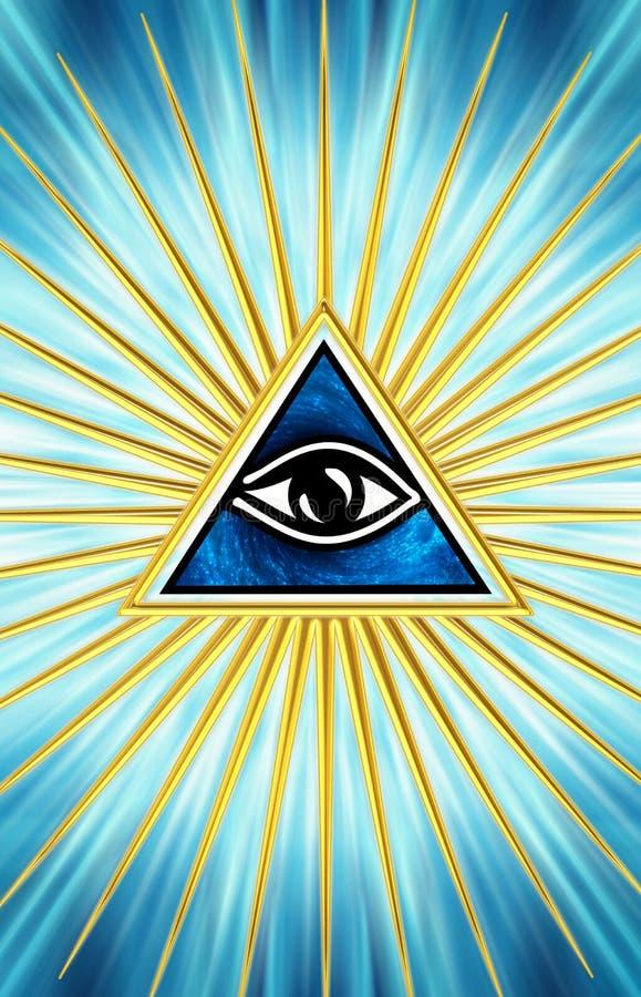 Tutto l'occhio vedente - occhio di provvidenza illustrazione vettoriale