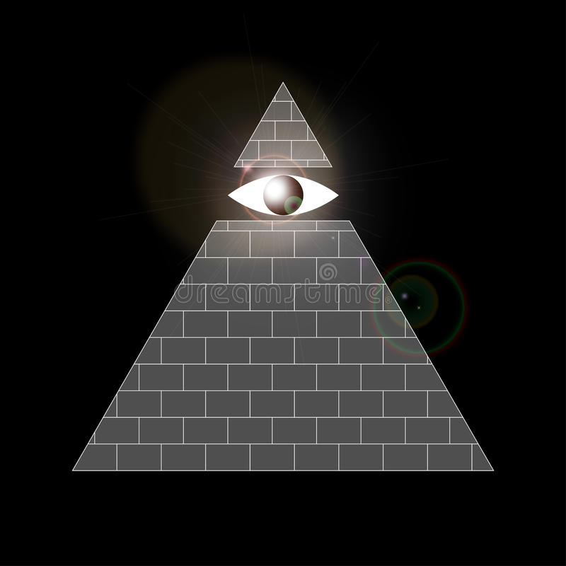 Tutto vedere simbolo dell'occhio illustrazione di stock