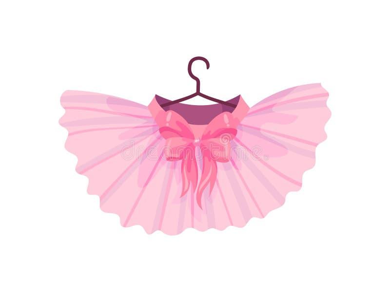 Tutu cor-de-rosa do bailado Ilustra??o do vetor no fundo branco ilustração do vetor