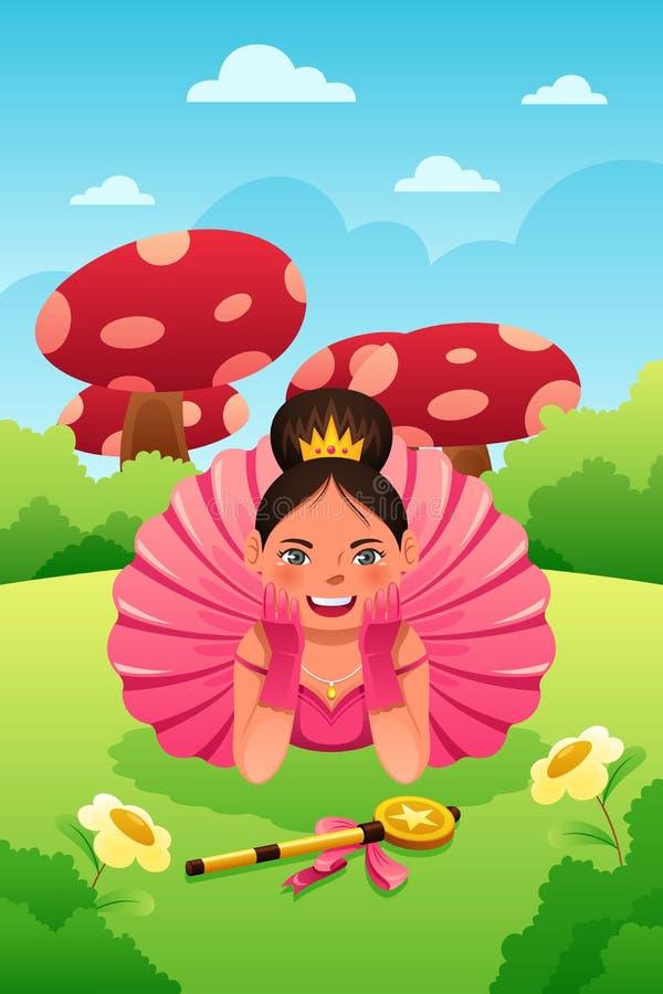 Tutu et couronne de port de fille illustration stock