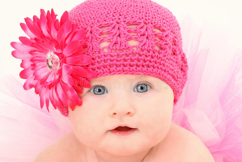 Tutu Hat Baby royalty free stock photography