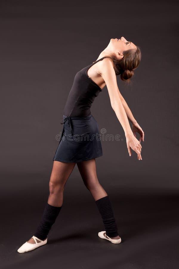 Tutu noir de ballerine images libres de droits
