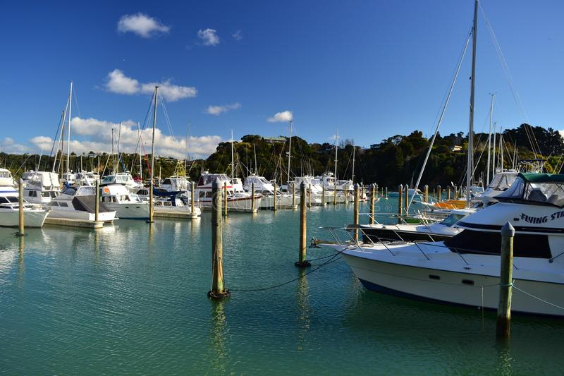 Tutukaka hamn, Nya Zeeland arkivfoton