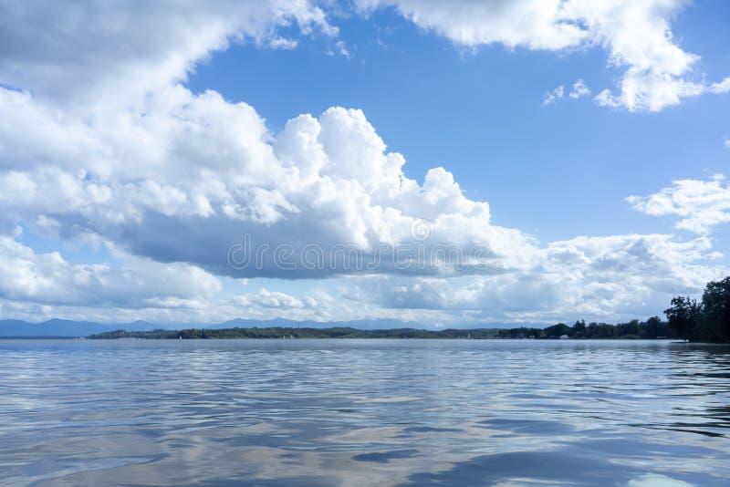 Tutzing湖施塔恩贝格巴伐利亚德国 免版税库存照片