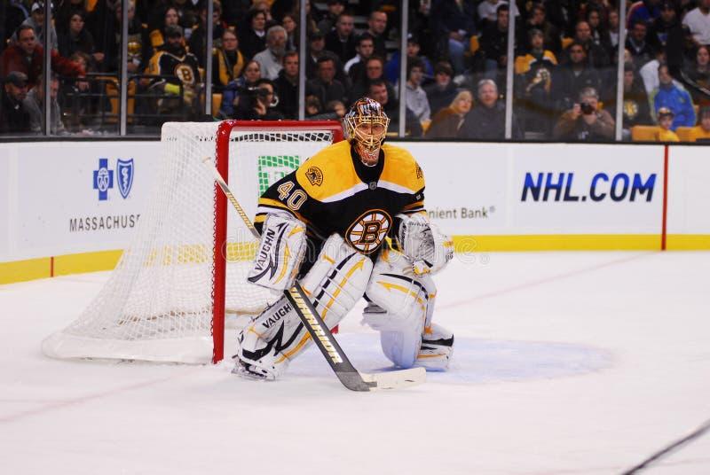 Tuukka Rask Boston Bruins Goalie. Tuukka Rask Boston Bruins goaltender in net against the St. Louis Blues, Saturday, November 6, 2010 royalty free stock image