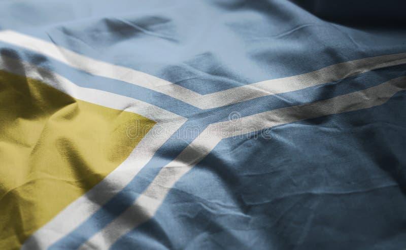 Tuva Flag Rumpled Close Up imagen de archivo libre de regalías