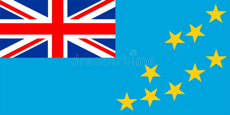 Tuvalu Flag stock illustration