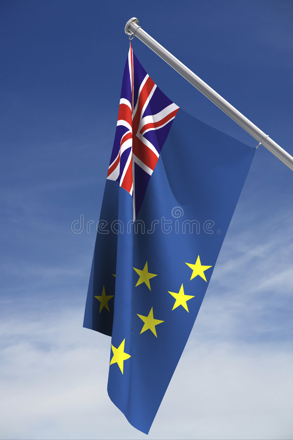 Tuvalu flag with clipping path royalty free stock image