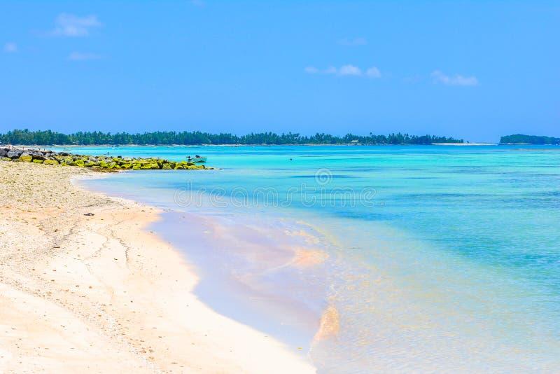 Tuvalu het strand van het eilandparadijs royalty-vrije stock foto's