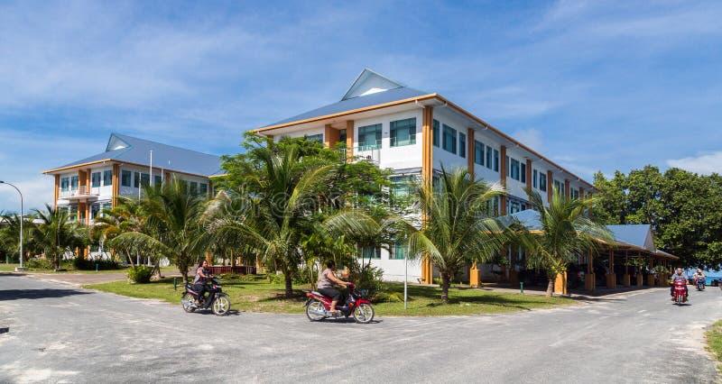 Tuvalu Huis Tuvalu de Overheidsbouw stock foto's
