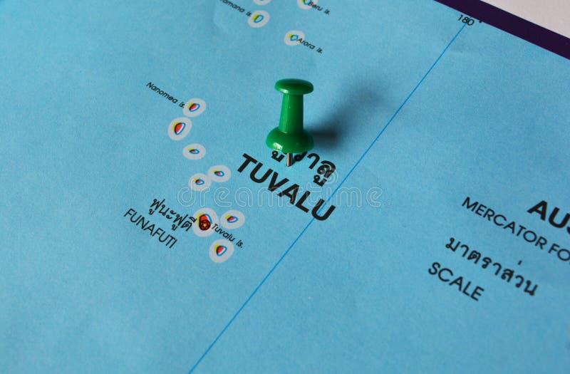 Tuvalu kaart royalty-vrije stock fotografie