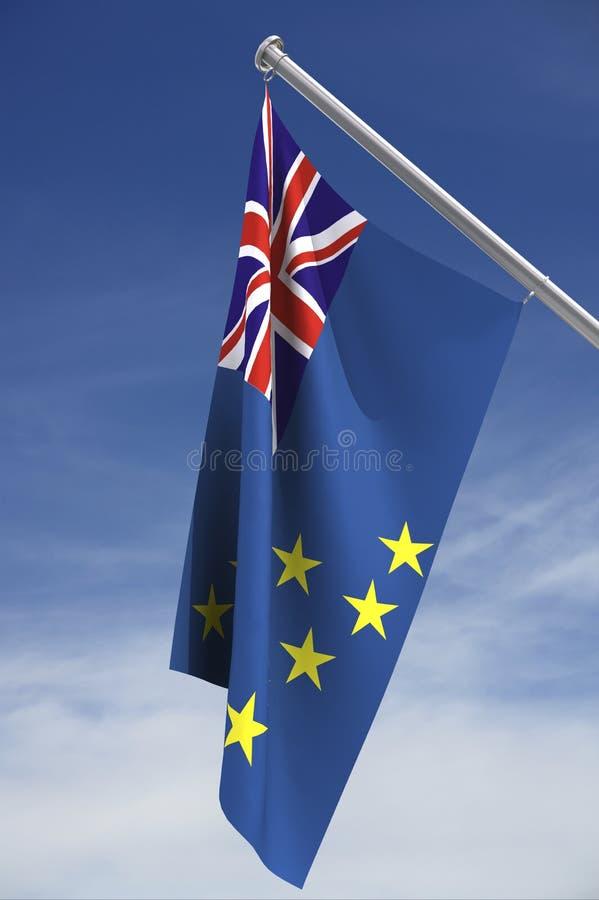 Tuvalu vlag met het knippen van weg royalty-vrije illustratie