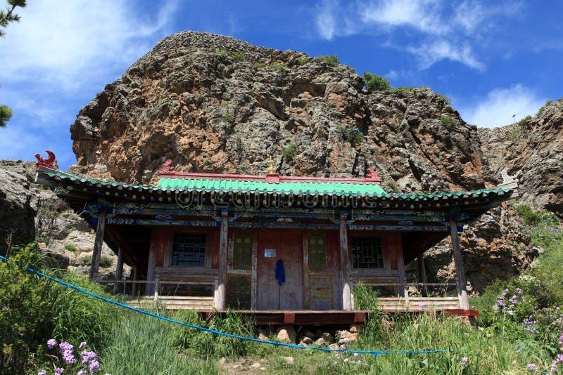 Tuvkhon修道院蒙古 免版税库存图片