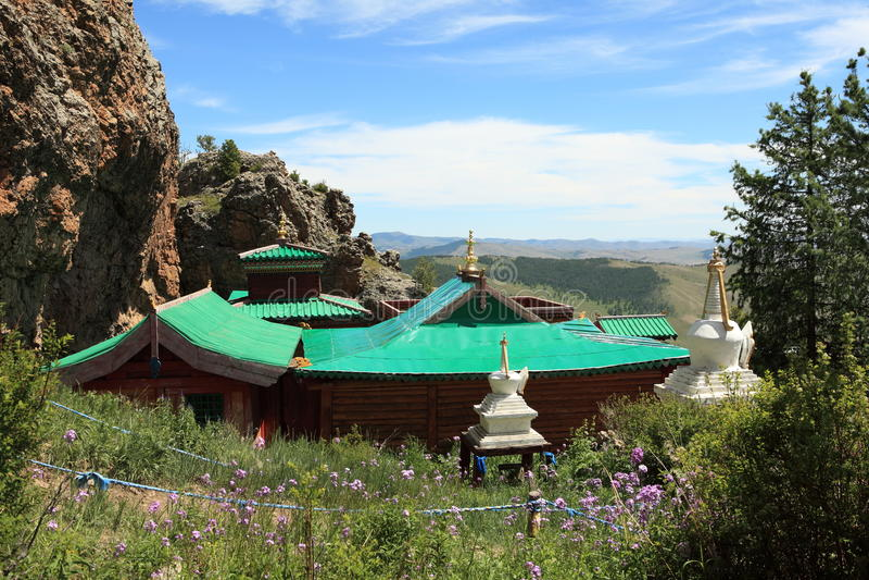 Tuvkhon修道院蒙古 图库摄影