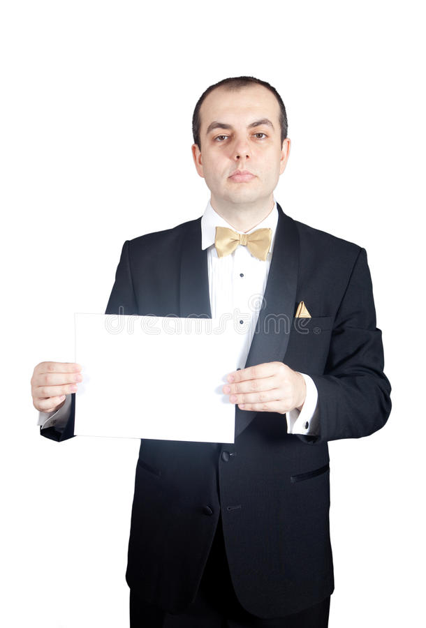 Tux & Banner royalty free stock photo