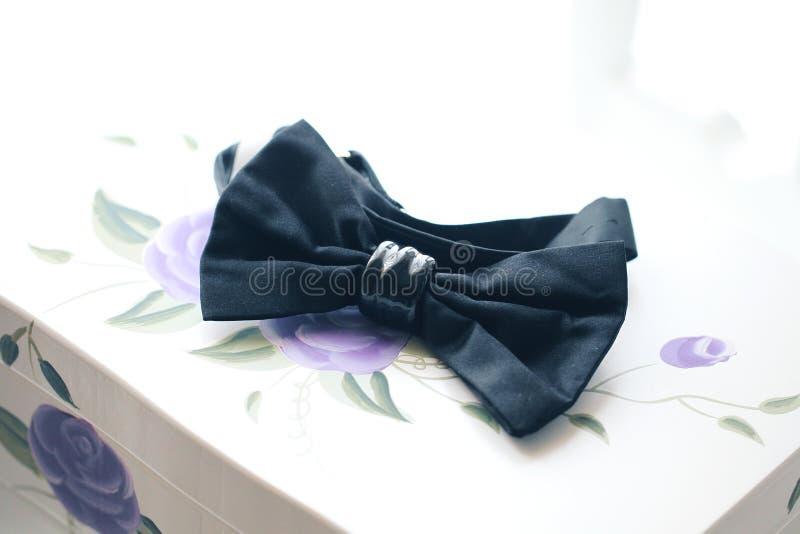 Tux preto do bowtie imagem de stock