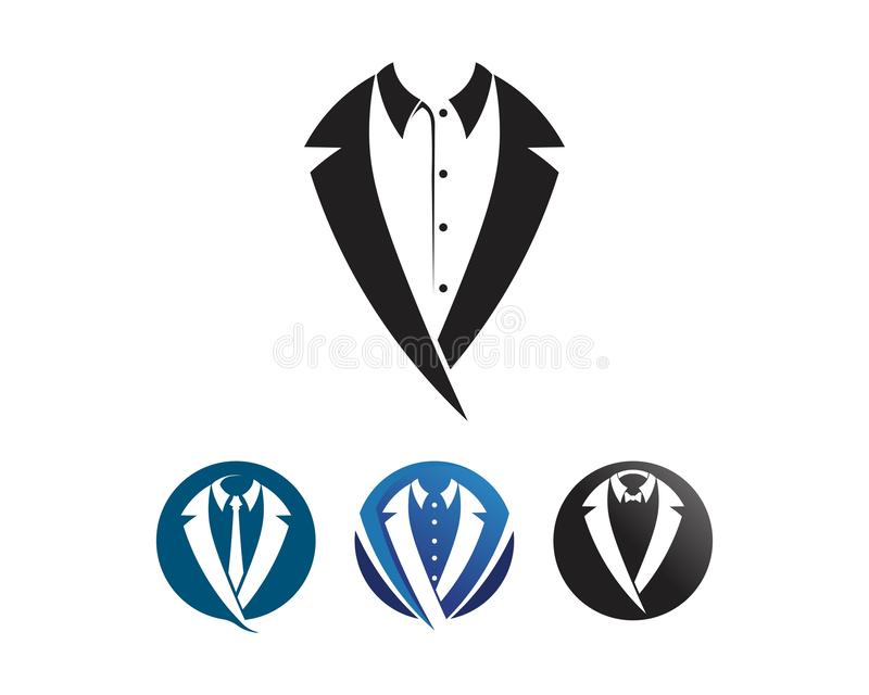 Tuxedo man logo and symbols black icons template. Tuxedo man and logo and symbols black icons template royalty free illustration