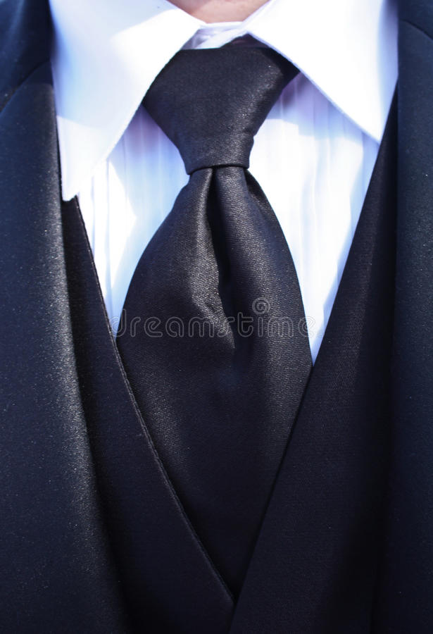 Tuxedo Neck Tie royalty free stock images