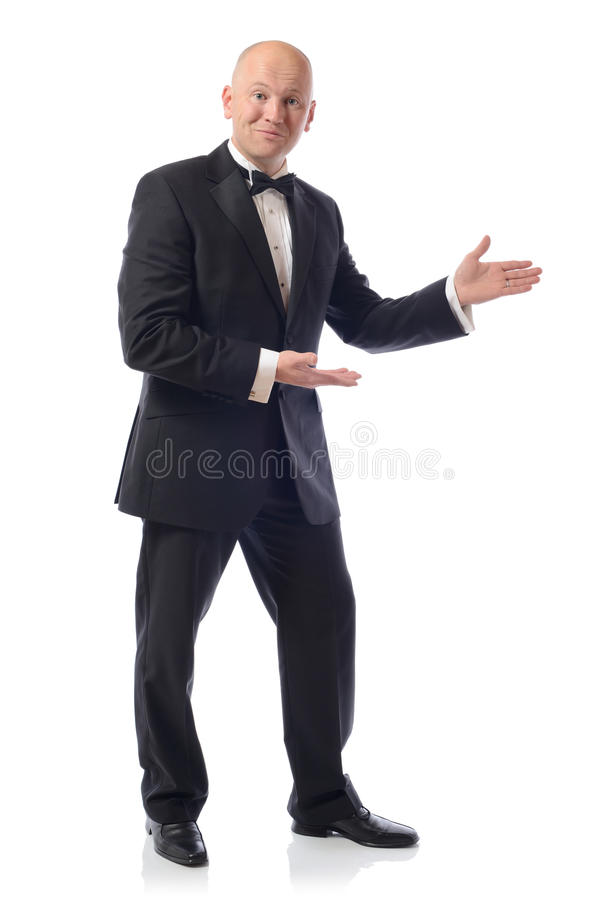 Download Tuxedo presenting stock image. Image of career, male - 27089065